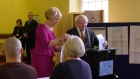 President Higgins casts his vote in the Phoenix Park
