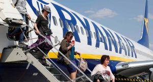 Ryanair customers can book flights on the new service as far out as October 2020. Photograph: Gleb Garanich/Reuters