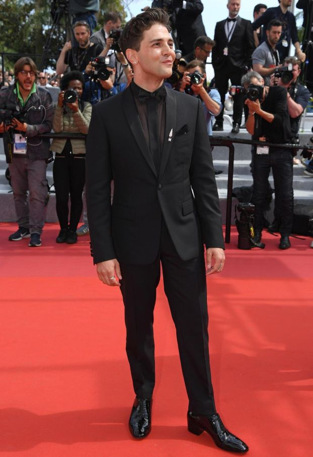Men in heels: Xavier Dolan in his Christian Louboutin Cuban-heeled oxfords. Photograph: Pascal Le Segretain/Getty