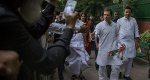 Rahul Gandhi, president of the Congress Party: calls for him to step down have intensified among demoralised party workers. Photograph: Pursuance Vishwanathan/Bloomberg