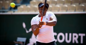 Sloane Stephens practises on Simonne-Mathieu Court at Roland Garros. 'At her best, there are times when it seems Stephens is playing a different sport to her peers.' Photograph: Pete Kiehart/The New York Times
