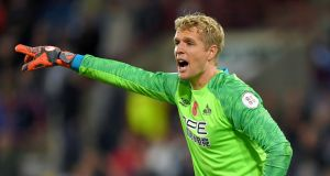 Everton have signed goalkeeper Jonas Lossl from Huddersfield on a three-year contract.  Photograph:  Dave Howarth/PA Wire