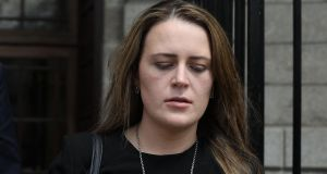 Sinead Lay is  pictured at the Four Courts on Friday following her High Court action. Photograph: Collins Courts.