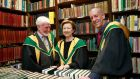 New RIA members (from left): Nobel Laureate John O'Keefe, Olivia O'Leary and Diarmaid Ferriter. Photograph: Nick Bradshaw for The Irish Times