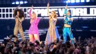 Mel B, Emma Bunton, Geri Halliwell and Melanie C of The Spice Girls perform on the first night of the bands tour at Croke Park on May 24, 2019 in Dublin, Ireland.  Photograph: Dave J Hogan/Getty Images