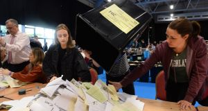 Elections 2019 count: Fine Gael tied with Fianna Fáil as Greens surge