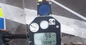 The highest recorded speed on Friday was a motorist driving at 188km/h on the Ballincollig bypass in a 120km zone.