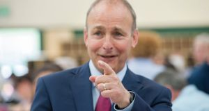 Fianna Fáil  leader Micheál Martin at the Ireland South constituency and local election count in Nemo Rangers Sports Centre in  Cork. Photograph: Provision