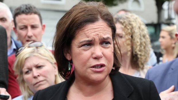 Sinn Féin leader Mary Lou McDonald at the count at Dublin's RDS. Photograph: Niall Carson/PA Wire