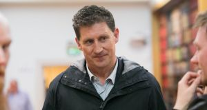 Eamon Ryan at the local and European election count in the RDS, Dublin. Photograph:  Collins