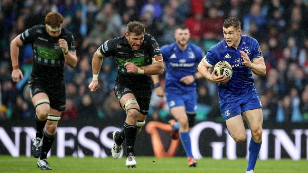 Leinster's Garry Ringrose makes a break. Photograph: Dan Sheridan/Inpho