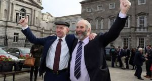 Michael and Danny Healy-Rae outside the Dáil. Three more members  have now joined the family's political machine. Photograph: Getty Images