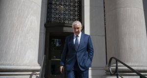 Sean Dunne leaves the US Federal Court House on May 22nd, 2019 after giving testimony in his civil trial. Photograph: Douglas Healey