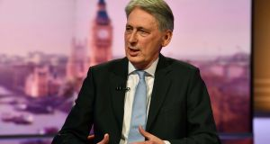 UK chancellor of the exchequer Philip Hammond  on The Andrew Marr Show: refused to rule out voting against his own government in the event of a no-deal exit. Photograph: Jeff Overs/BBC/Handout