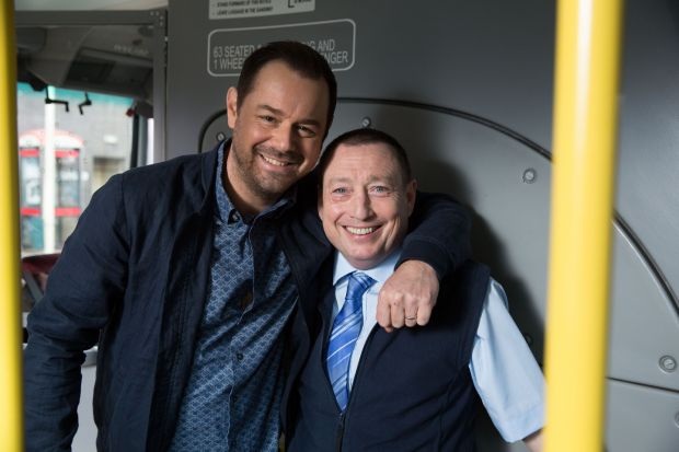 EastEnders: Lee MacDonald with Danny Dyer. Photograph: Jack Barnes/BBC