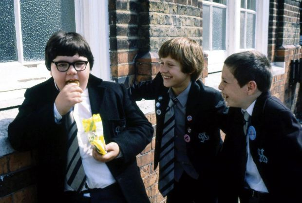 Grange Hill: Lee McDonald as Zammo with Erkan Mustafa as Roland and Lee Sparke as Jonah. Photograph: BBC