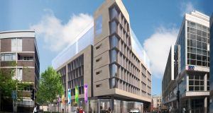 An artist's impression of the Marlin Hotel on Dublin's Bow Lane,  due to open in July.