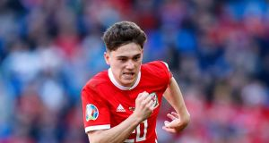 Swansea City's Welsh  international winger Daniel James is a target of Manchester United as they prepare to make summer signings. Photograph:   Darren Staples/PA Wire