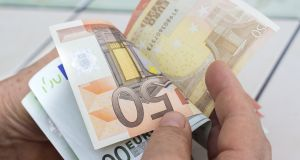 Average weekly earnings stood at €769.98 as of the first quarter of 2019, up by 3.4 per cent on a year earlier. Photograph: iStock