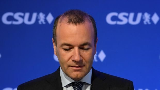 EPP leader Manfred Weber: Emmanuel Macron and Pedro Sánchez do not want him as the president of the European Commission. Photograph: Christof Stache