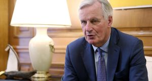 "EU chief Brexit negotiator Michel Barnier: set for Government's support in part because he has ""done right by Ireland"" during the Brexit negotiations. Photograph: Costas Baltas"