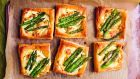 Nigel Slater's asparagus, puff pastry. Photograph: Jonathan Lovekin/HarperCollins