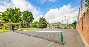 The owners pay a small annual fee for the upkeep of the shared tennis court
