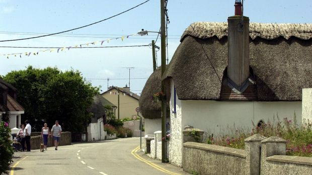 Thatched cottages at Kilmore Quay, Co Wexford. Photograph: Eric Luke