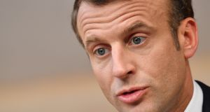 Emmanuel Macron built a winning presidential campaign on outright repudiation of far-right demands, positioning himself as an ardent advocate for European integration and liberal values. Photograph: Geert Vanden Wijngaert/Bloomberg