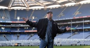 Garth Brooks in Croke Park in January 2014, to announce two concerts that would never take place. Photograph: Dara Mac Dónaill/The Irish Times