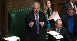 Speaker of the House Jon Bercow. Brexiteers have complained that some of his decisions have stretched the rules to allow opponents of Brexit to set the agenda. Photograph: Jessica Taylor/PA Wire