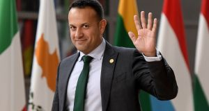 Taoiseach Leo Varadkar: back in Dublin after an informal meeting of EU heads in Brussels. Photograph: EMMANUEL DUNAND/AFP/Getty Images