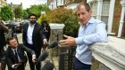 Alastair Campbell speaks to the media outside his home in north London on Tuesday after he was expelled from the Labour Party for  voting for the Liberal Democrats in the European elections. Photograph:  Dominic Lipinski/PA Wire