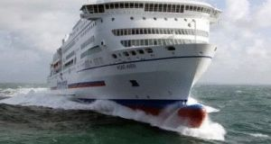 The Pont Aven ferry, which operates on the Cork to Roscoff route, has been undergoing repairs since the middle of May.