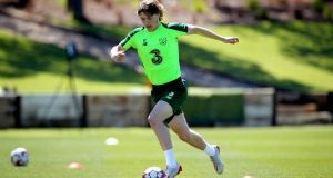 Ireland's Luca Connell during the training camp in Portugal last week. Photo: Ryan Byrne/Inpho