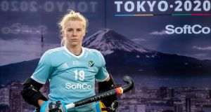 Ireland Women's hockey goalkeeper Ayeisha McFerran: 'We definitely have the confidence and the belief that we can do something special again, that we will qualify for Tokyo and perform the way we know we can.' Photograph: Morgan Treacy/Inpho