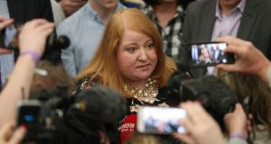 Alliance leader Naomi Long says her European victory was in large part driven by a public wish to see devolution restored. Photograph: Liam McBurney/PA Wire