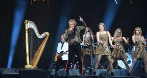 Rod Stewart live in concert at Pairc Uí Chaoimh, Cork, on Saturday. Photograph: Larry Cummins courtesy Irish Examiner