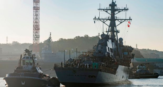 White House wanted USS John McCain 'out of sight' for Trump