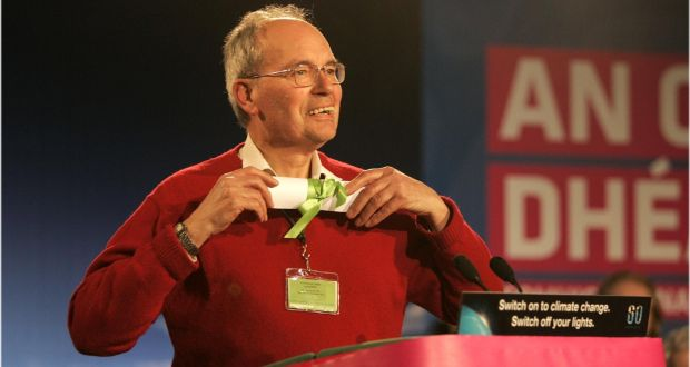 Christopher Fettes, received a roll of honour  during the Green Party annual convention in Waterford in 2010. File Photograp: Dara Mac Dónaill