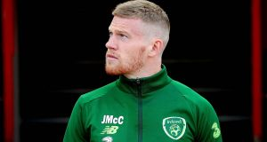 Ireland's James McClean has said the FA and Kick It Out are hypocrites in how they treat him and other players who receive racial abuse. Photograph: Ryan Byrne/Inpho