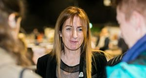 European candidate Clare Daly TD at the Dublin count centre last weekend. Photograph: Gareth Chaney/Collins