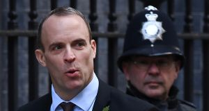 EU negotiators initially welcomed Dominic Raab as a smarter and more focused interlocutor than his predecessor David Davis. Photograph: Andy Rain/EPA
