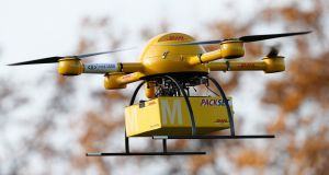The company is due to seek regulatory approval to begin using its drones soon having been testing the technology for some time. File photograph: Getty Images