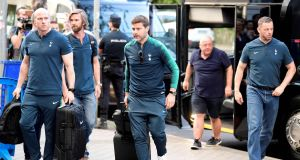 Tottenham Hotspur manager Mauricio Pochettino arrives to the team's hotel in Madrid ahead of the Champions League final. Photo: Javier Soriano/Getty Images