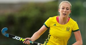 Railway Union's Sarah Hawkshaw is in the Ireland squad for the FIH Series Finals. Photo: Laszlo Geczo/Inpho