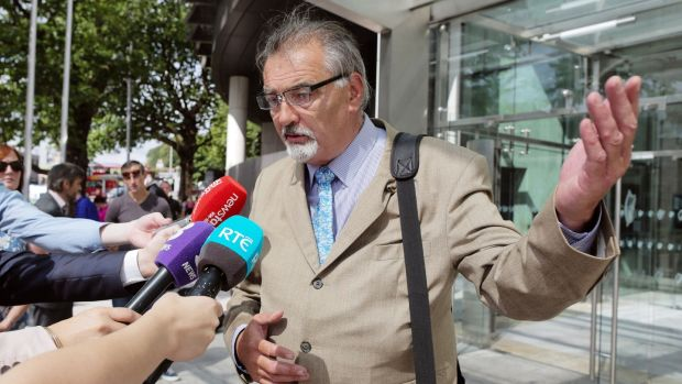 Ian Bailey of The Prairie, Liscaha, Schull, west Cork leaving Court in Dublin in July 2017. Photograph: Collins