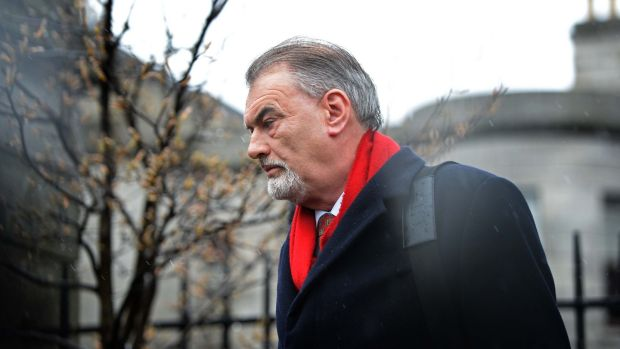 Ian Bailey leaving the High Court in March 2015 after losing his case over Garda conduct. Photograph: Eric Luke