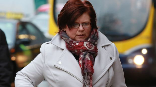Marie Farrell arriving at the Four Courts in December 2014 before she gave evidence during for the fifth week of the High Court action taken by Ian Bailey. Photograph: Collins