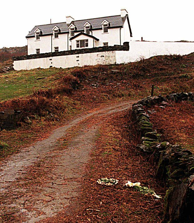 Flowers mark the spot where Sophie Toscan Du Plantier was found dead near her west Cork home. Photograph: Mark Kelleher